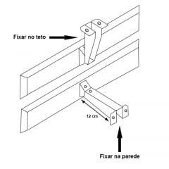 Suporte de Fixação c/ Parafusos para Parede ou Teto Linha SLIMTAB 748