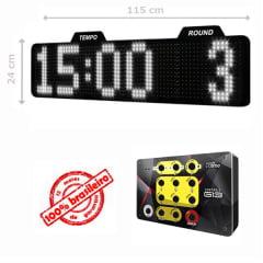 PAINEL LEDTIME XL 1464 - CRONÔMETRO HORA / MINUTO / ROUND - 115X24 CM COM CONTROLE G13