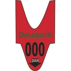 Rolo / Bobina de senha PERSONALIZADA pré impressa 3 dígitos 001 a 999 com 2000 senhas Cor: VERMELHA CX c/ 100 rolos