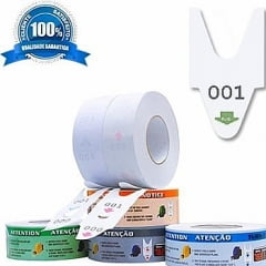 Rolo / Bobina de Senha Numerada 3 Dígitos de 000 a 999 com 2000 Senhas: VERDE