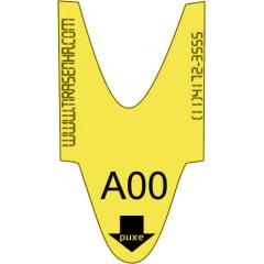 Rolo / Bobina de senha ALFA NUMÉRICA 2 dígitos de A00 a A99 com 2000 senhas Cor: AMARELA