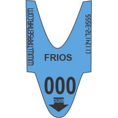 Rolo / Bobina de Senha Numerada Color 3 Dígitos de 000 a 999 com 2000 Senhas: Azul : FRIOS - PARA SUPERMERCADOS E PADARIAS