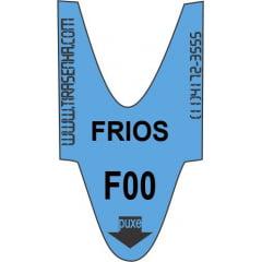 Rolo / Bobina de senha ALFA NUMÉRICA 2 dígitos de F00 a F99 com 2000 senhas Cor: AZUL - FRIOS: para Supermercados e Padarias
