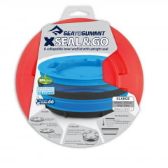 PRATO E COPO DOBRÁVEL COM TAMPAS X-SEAL & GO - SEA TO SUMMIT