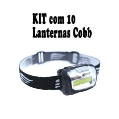 Kit com 10 Lanternas de Cabeça Cob