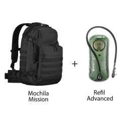 MOCHILA MISSION + REFIL DE HIDRATAÇAO ADVANCED