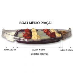 Barco para Açaí especial Descartável Boat com Divisórias  39cm - 100 unidades