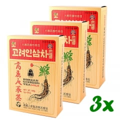 Korean Ginseng Tea Gold 50 sachês - 3 Caixas