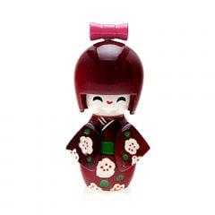 Boneca Japonesa Kokeshi Vinho (9cm) - KPVS