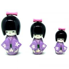 Trio Boneca Japonesa Roxa - TKRM