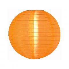 Luminária Oriental Laranja Nylon - 35 cm