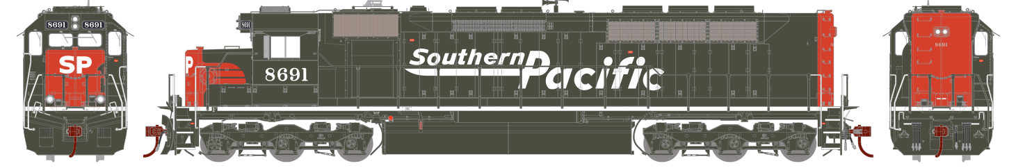 Locomotiva SD40M-2 Com Som e DCC