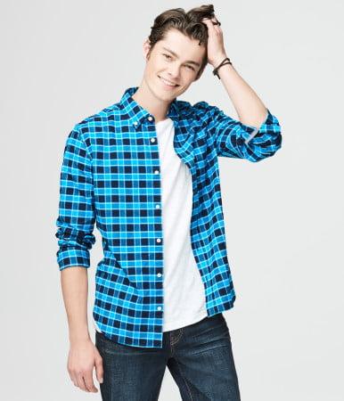 b2df724238 Aéropostale camisa Xadrez masculina
