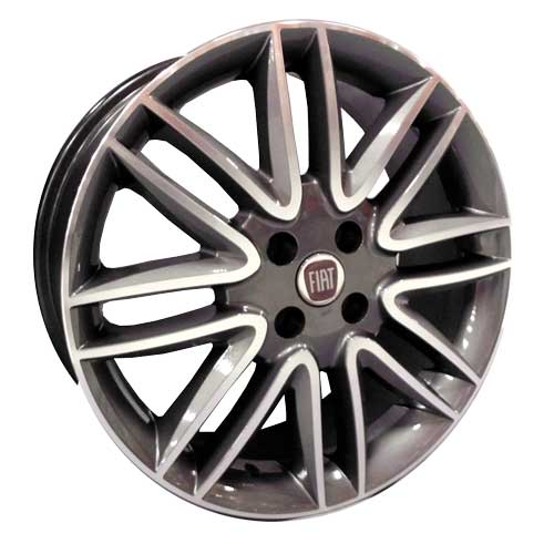 Roda Aro 15 - Replica Original Fiat Punto Sporting Grafite Diamantada