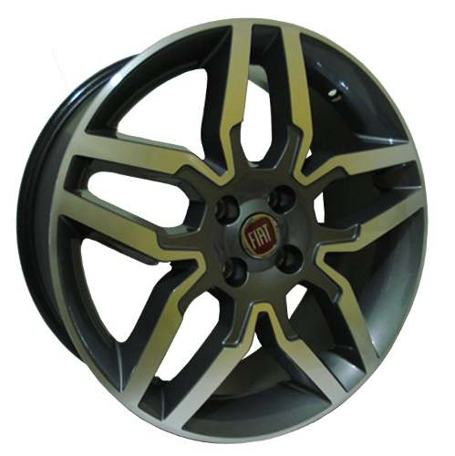 Roda Aro 17 - Replica Original Fiat Idea Sport Grafite Diamantada