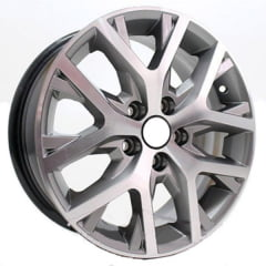 Roda Aro 15 - Replica Original VW Crossfox Grafite Diamantada (5X100)