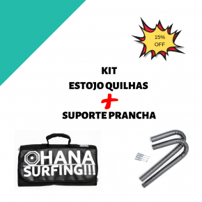 Kit Porta Quilhas + Suporte Prancha