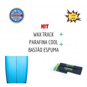 Kit Waxtrak + Parafina Agua Gelada + Bastão Espuma Fita Rack