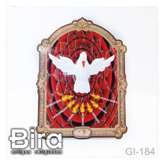 Quadro de Mesa Divino Espírito Santo 3D - 15x20cm - Cód. GI-184