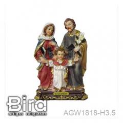 Sagrada Família - 10cm - Cód. AGW1818-H3.5