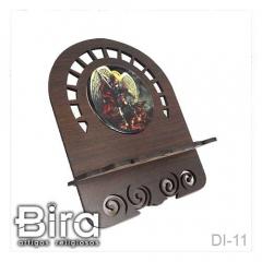 Porta Bíblia Trabalhado em Madeira Com Imagem Resinada - 21x25cm - Cód. DI-11