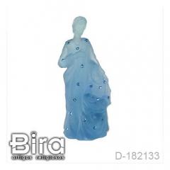 Sagrada Família Azul Resina Transparente - 17cm - Cód. D-182133