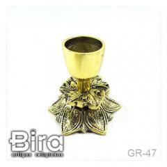 Castiçal em Bronze Flor - 8cm - Cód. GR-47