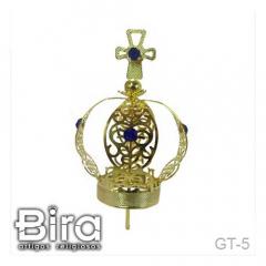 Coroa Dourada Simples - 6.5cm - Cód. GT-5