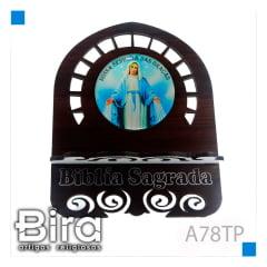 PORTA BIBLIA RESINADO TABACO P 15 CM - A78TP