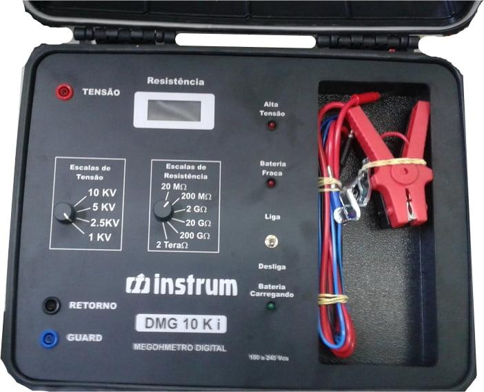 Megôhmetro Digital 10KV Modelo: DMG 10Ki Marca: INSTRUM (UPGRADE)