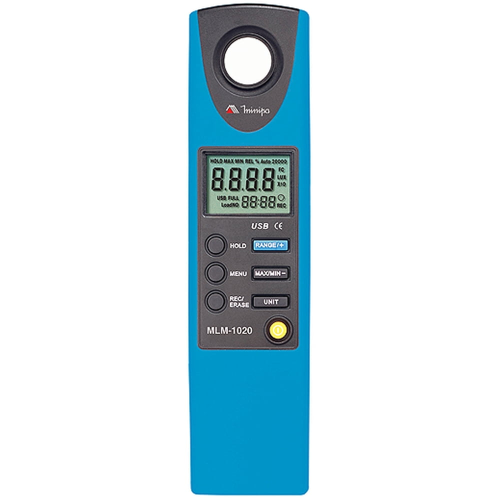Luxímetro Digital com Datalogger e Interface USB MLM-1020 MINIPA
