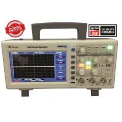 "Osciloscópio Digital 100MHz Display de 7"" Colorido MVB-DSO MINIPA"