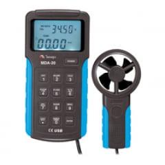 Anemômetro Digital com Data Logger e Interface USB MDA-20 MINIPA