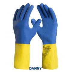 Luvas de látex antiderrapantes com banho de Neoprene NeoLátex - DANNY