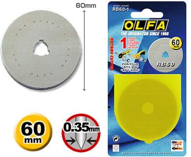 Lâmina 60mm OLFA - RB60-1