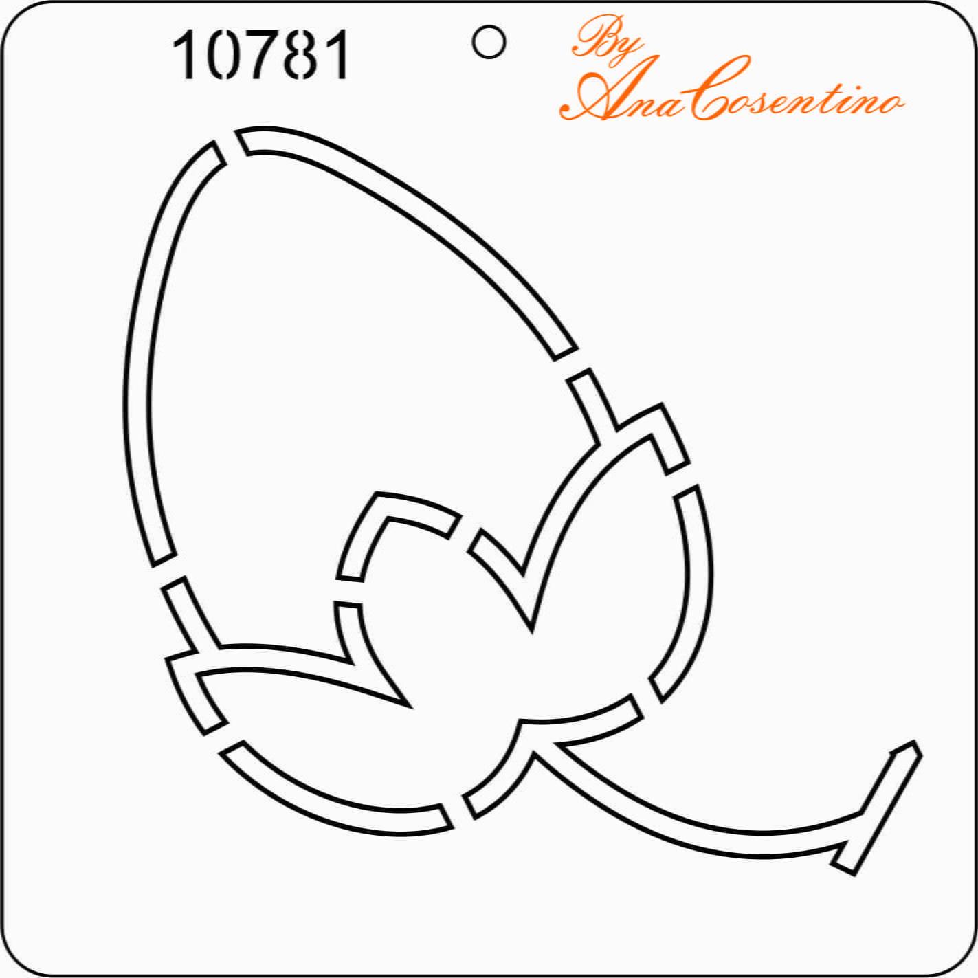 Estêncil de Quilting (Pequeno) - 10781