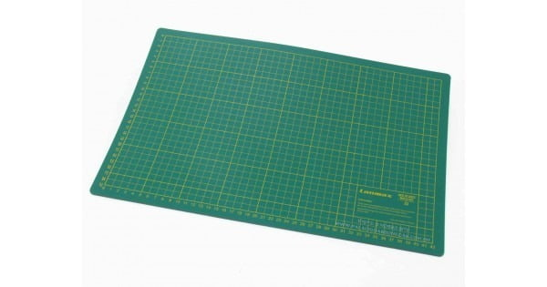 Placa de Corte 60x45cm (Verde) - Dupla Face (CM e Polegadas)