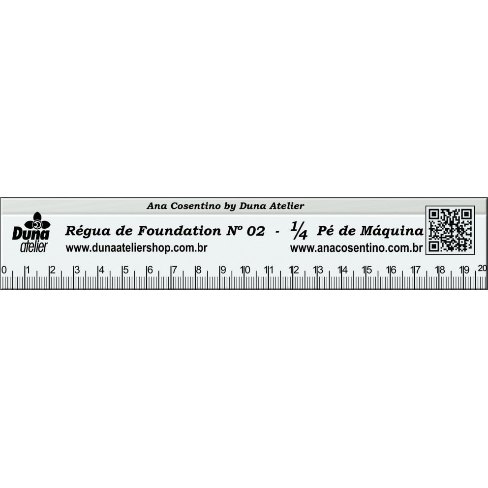Régua para Foundation (20cm) - Duna Atelier 45749