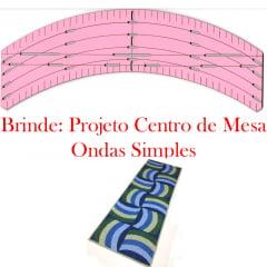 Combo Régua Ondas Simples (32041) + Projeto de Brinde!! (073)
