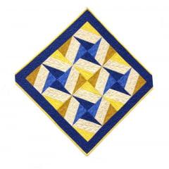 Projeto Toalha de Mesa Estrelas Azuis (093)