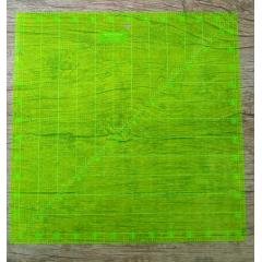 """Régua Polegadas (12.5""""x12.5"""") - Westpress (Verde)"""