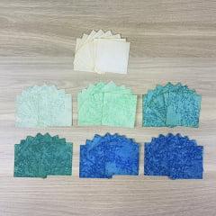 Kit Quadradinhos de Tecidos Alecrim - Coleção Caribe