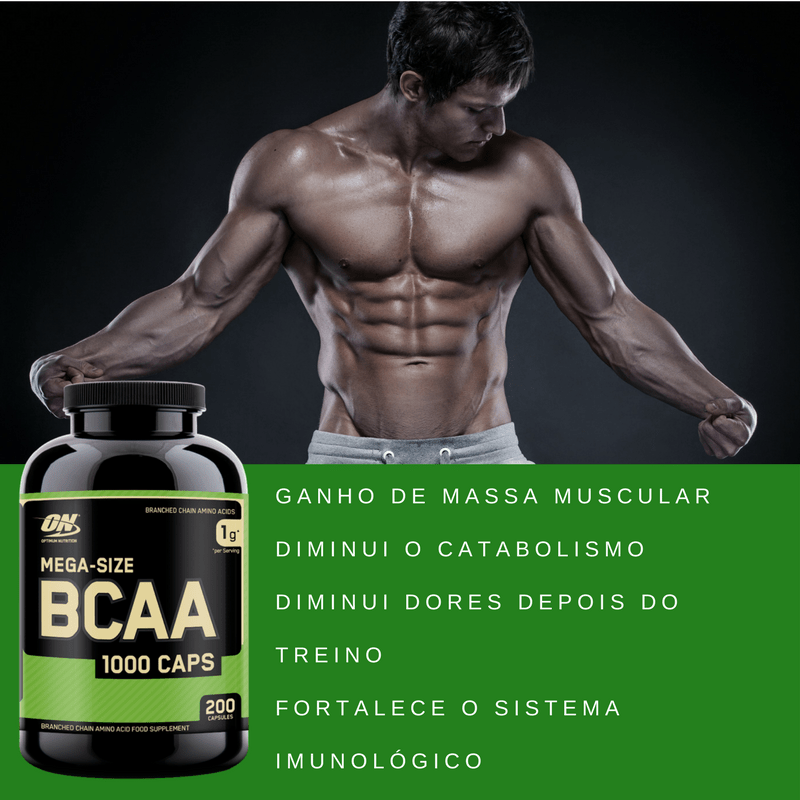 BCAA ON 200 CAPS- BENEFICIOS