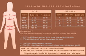 Conjunto De Lingerie Calcinha Fio Dental