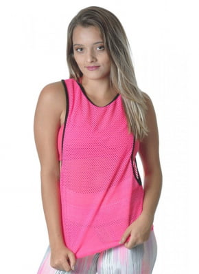 Camiseta Tela Fitness rosa Red Sports Dry Fit