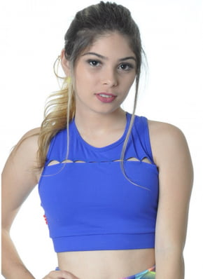 Cropped Fitness azul Red Sports