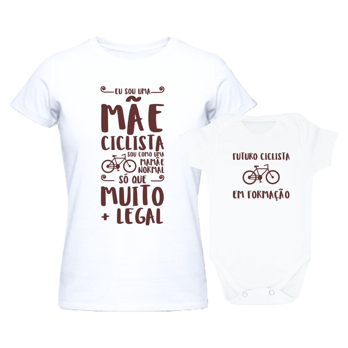 7de80e76850bc0 Kit Tal Mãe Tal Filho(a) Mãe Ciclista Muito + Legal