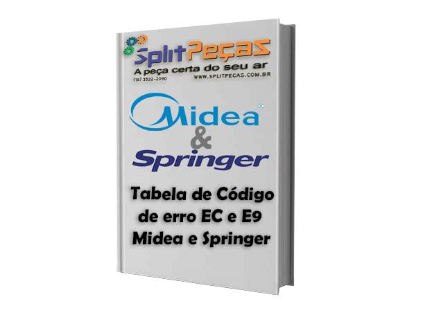 Tabela de Código de erro EC e E9 Midea e Springer - Split Peças