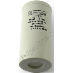 Capacitor de Partida  do Compressor 45 MF +5%  400V.AC 50/60 Hz SH ( 2 Pólos )