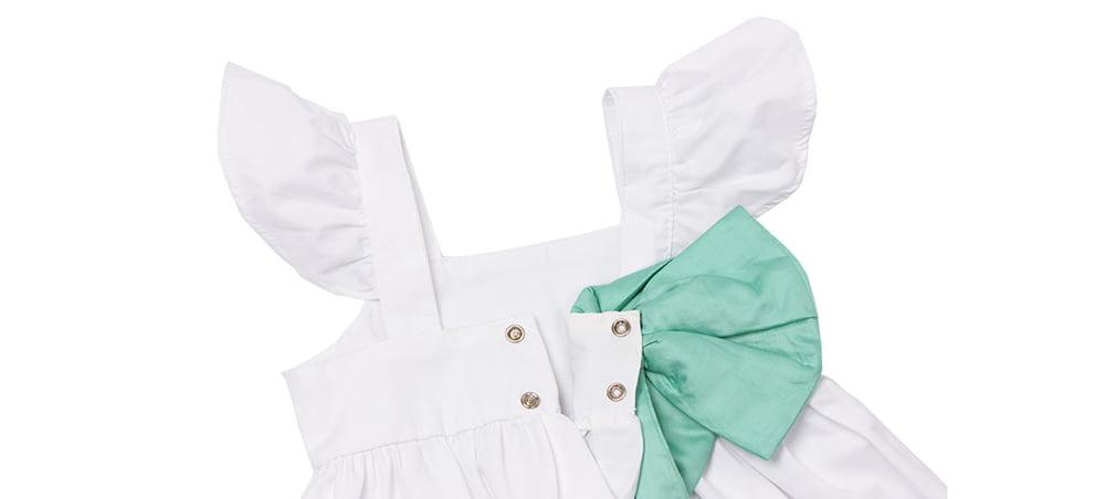 vestido infantil branco sofia imagem botao pressao